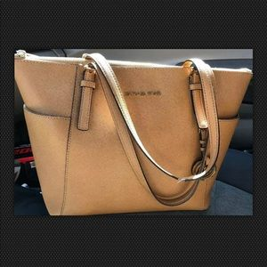 Micheal kors leather small tote